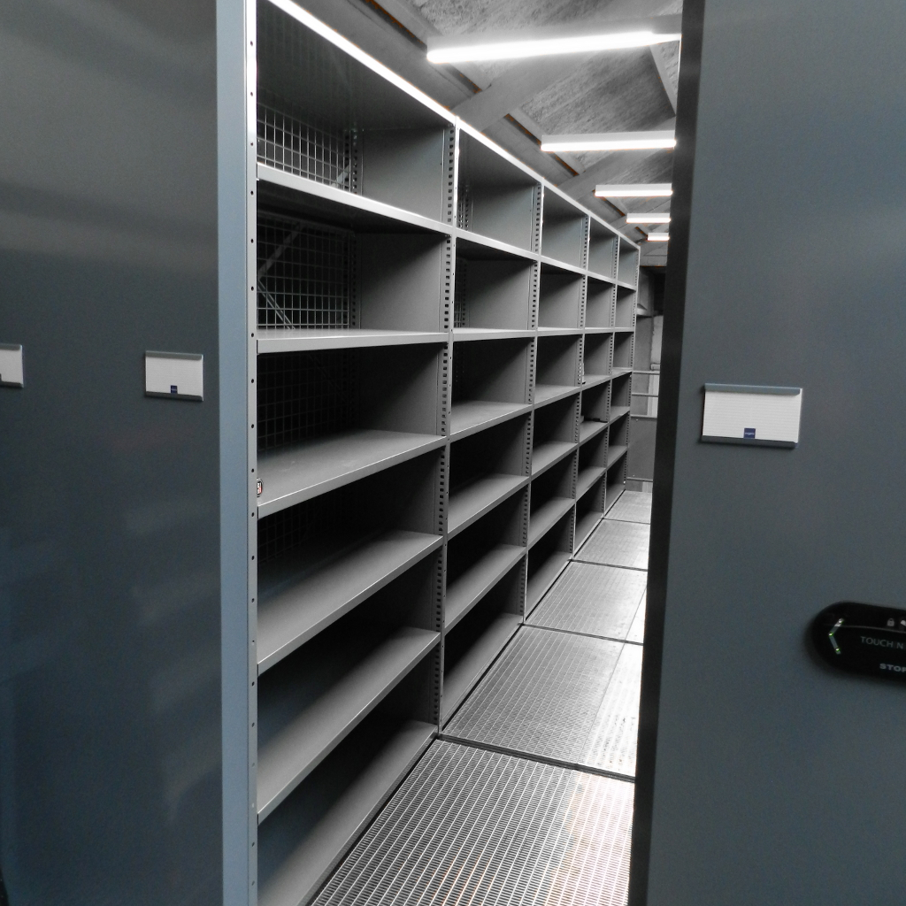 Dubbellaags verrijdbare archiefkasten duplex